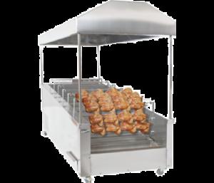 آلات شواء الدجاج الأفقية بنوع الفحم
