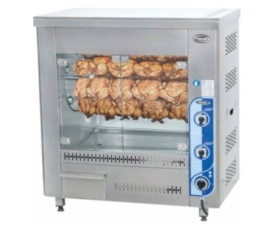 Countertop vertical chicken grill machines with drum