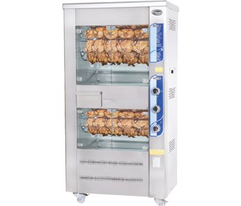 Double deck chicken grill machines